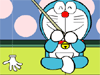 Doraemon is a robotic cat that comes from the 22nd century. He comes to 20th century and stays with Nobita Family. The Nobita love Doremon very much. So Doraemon always help the Nobita with the devices from 22nd century.
